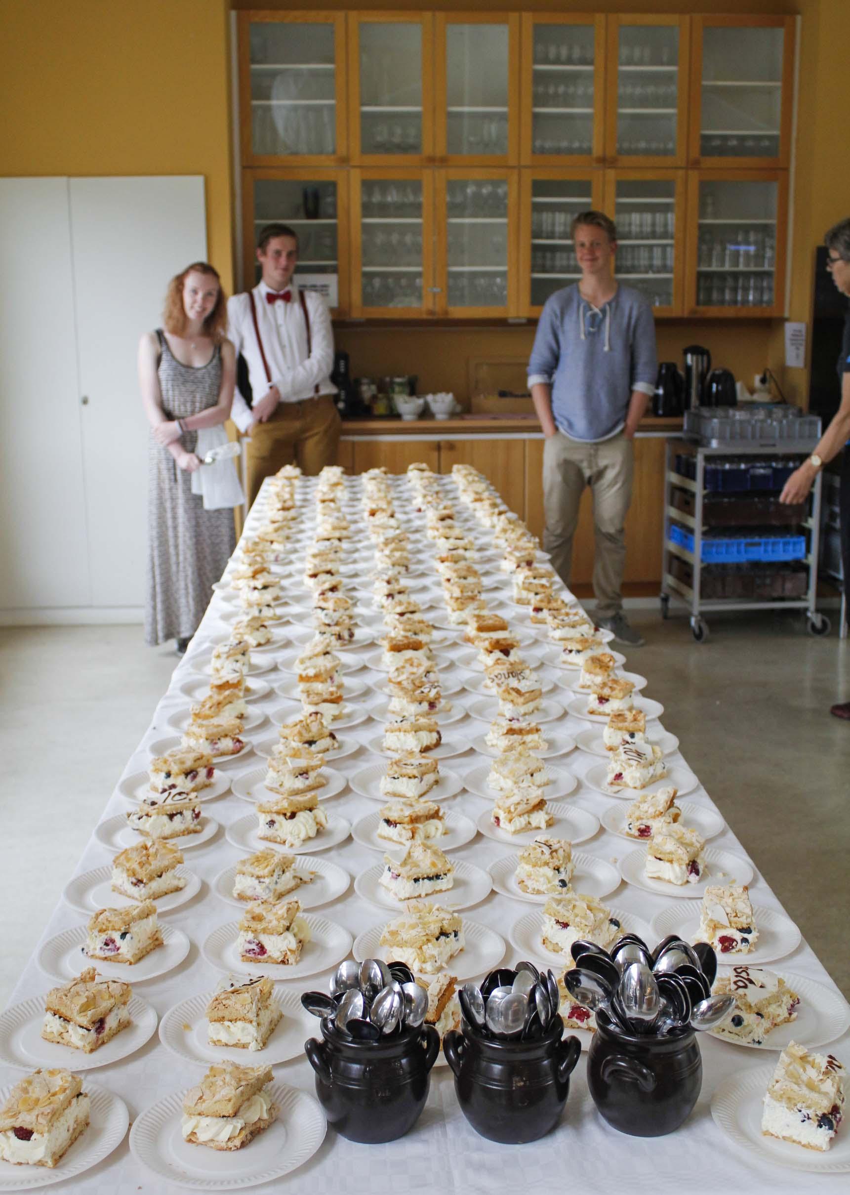 Väldigt många tårtbitar